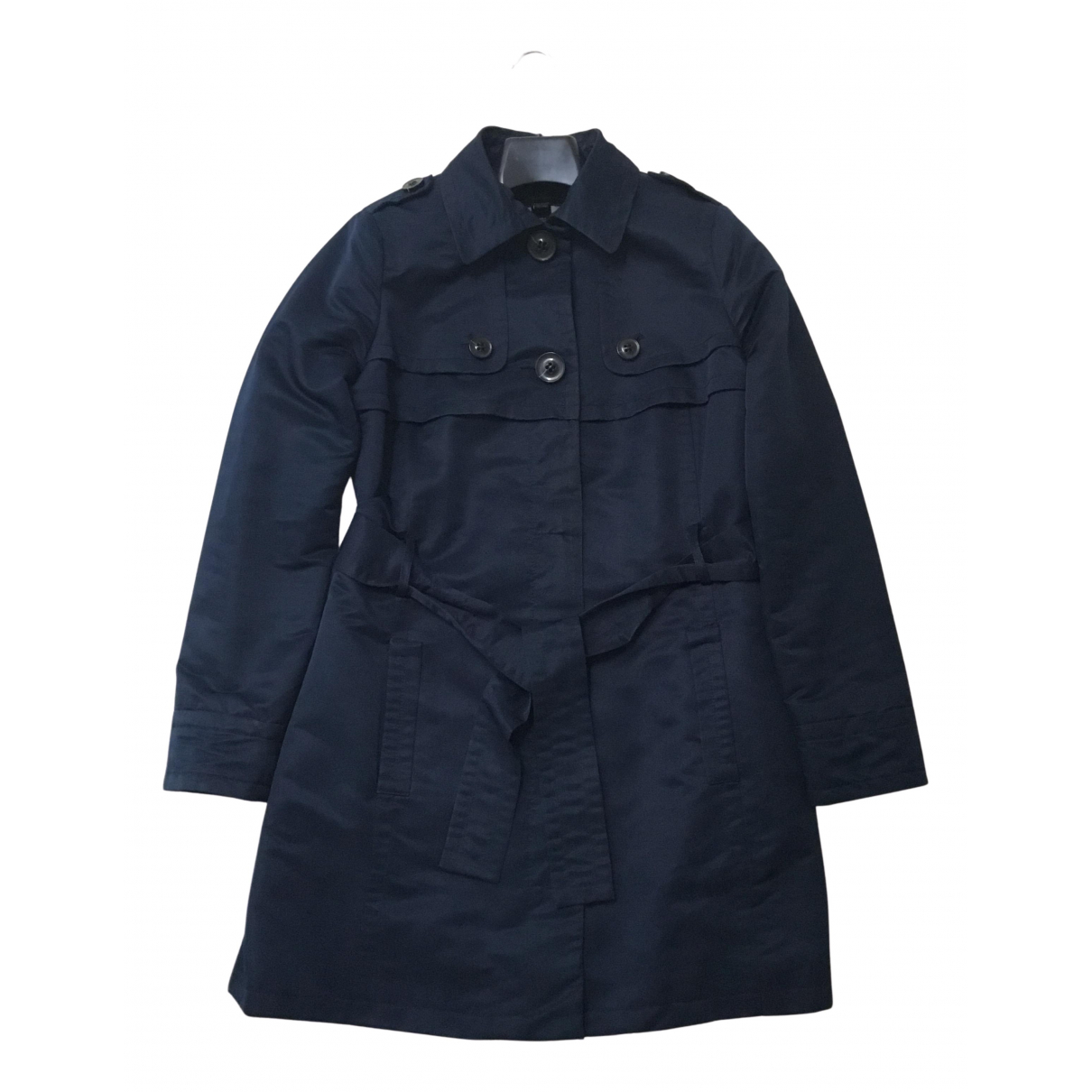 Mango \N Trench in  Marine Polyester