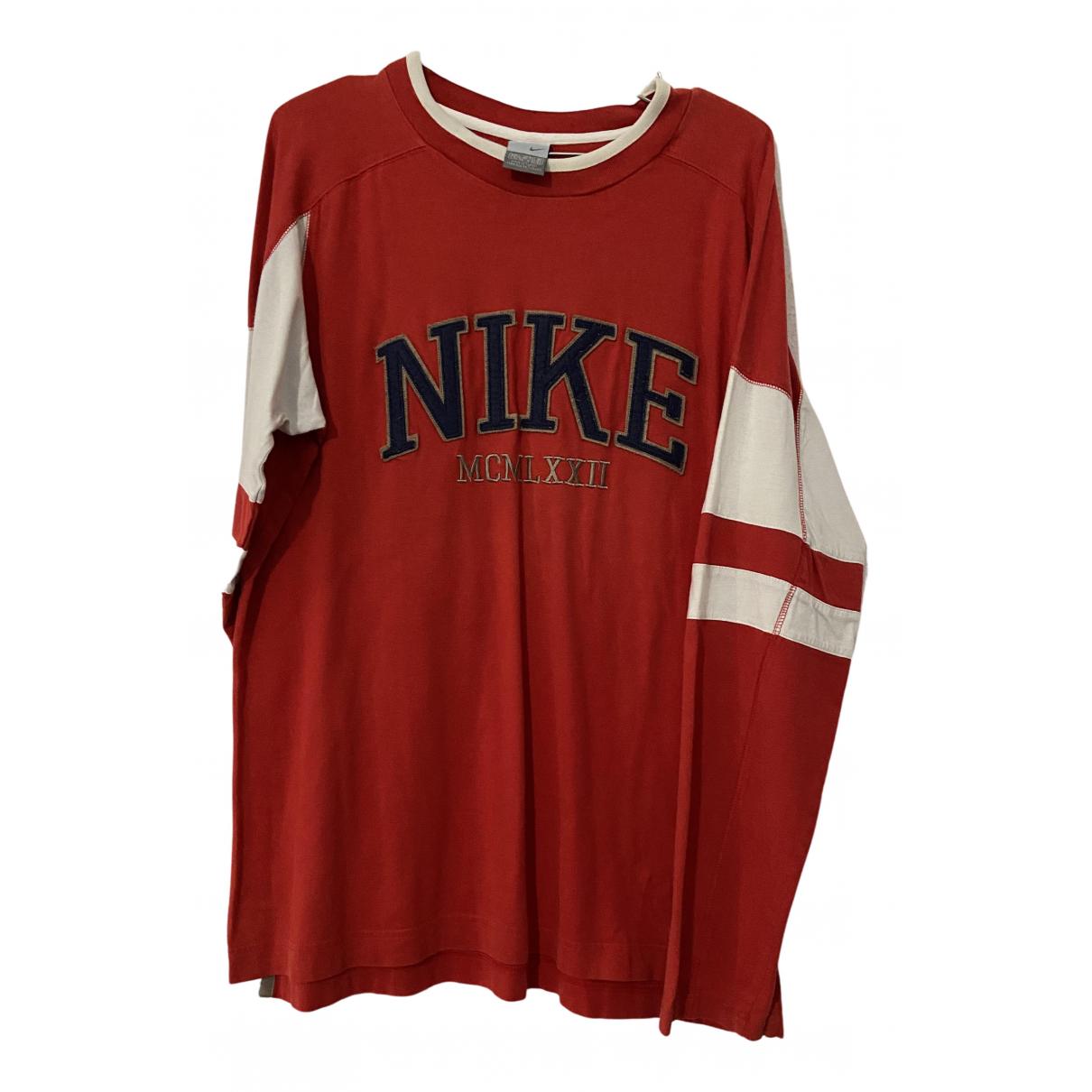 Nike \N Pullover.Westen.Sweatshirts  in  Rot Baumwolle