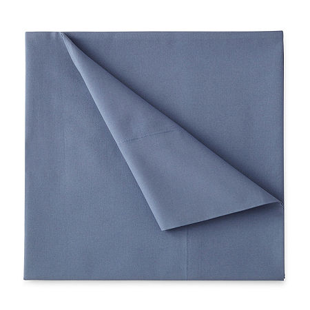 JCPenney Home 300tc 100% Cotton Percale Ultra Soft Solid and Print Sheet Sets, One Size , Blue