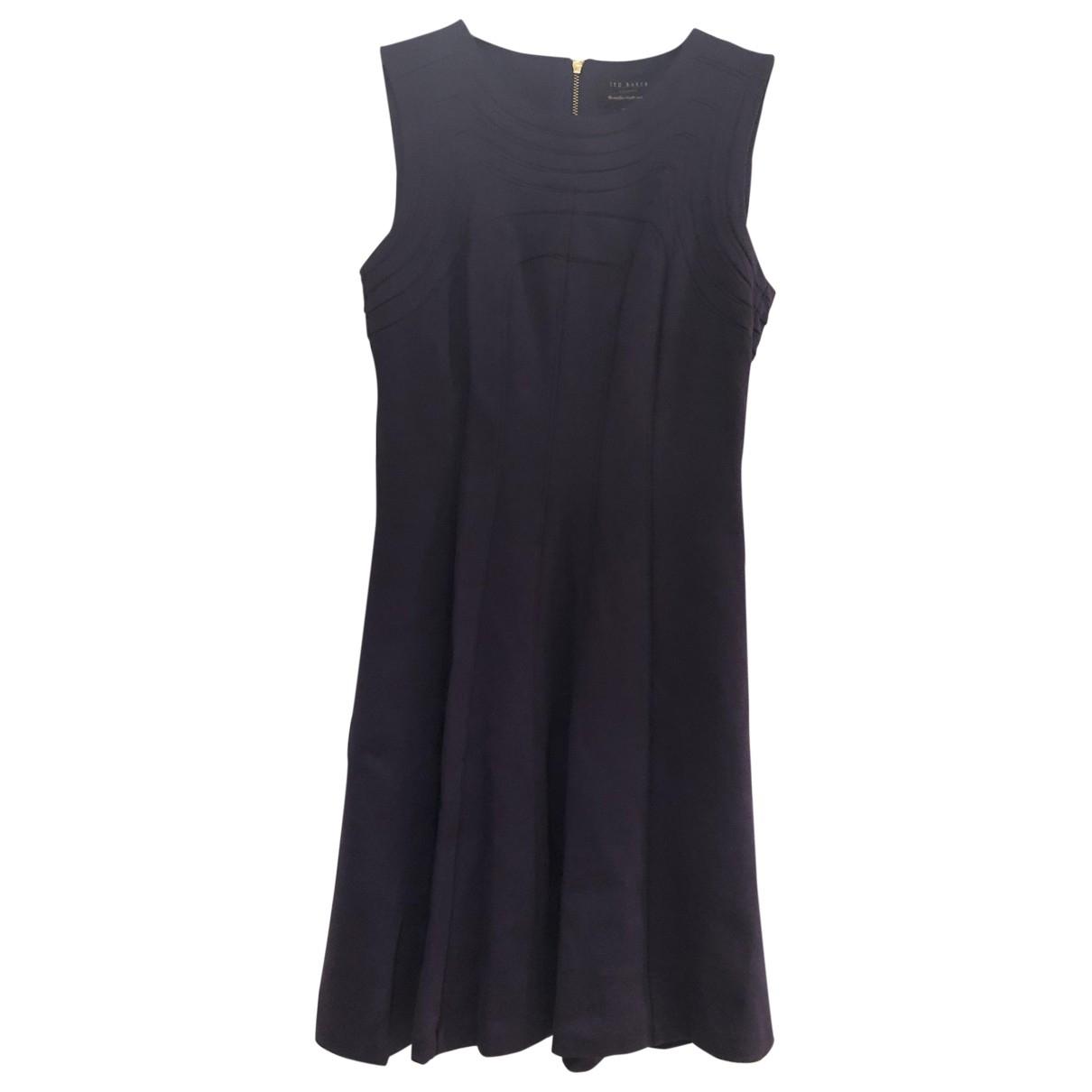 Ted Baker - Robe   pour femme en coton - elasthane - violet