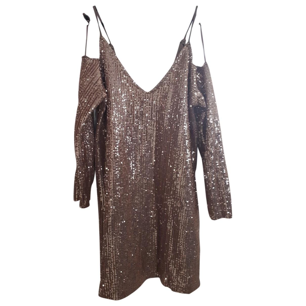 Zara \N Kleid in  Rosa Mit Pailletten
