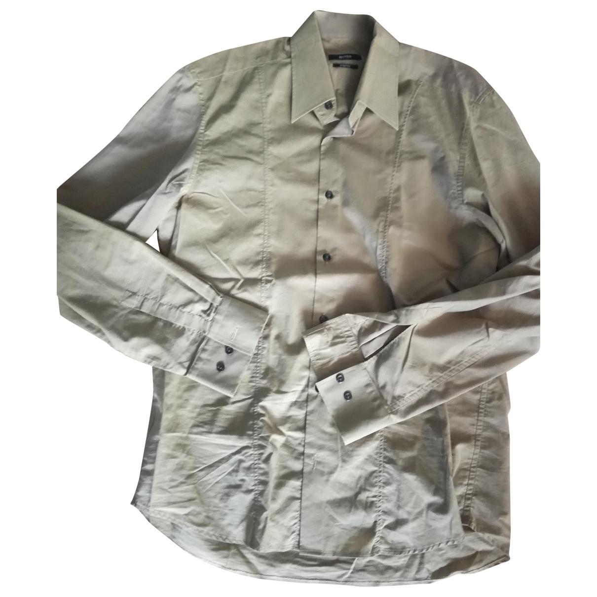 Boss - Chemises   pour homme en coton - kaki