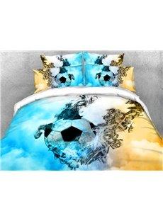 Fantasy Football/Soccer 3D Duvet Cover Sets 4-Piece Sports Style Soft Bedding Sets