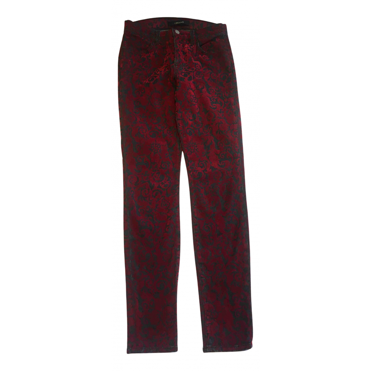 J Brand N Red Cotton Jeans for Women 27 US
