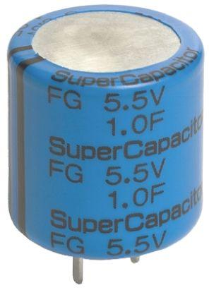 KEMET 1F Supercapacitor EDLC -20 → +80% Tolerance, Supercap FG 5.5V dc, Through Hole
