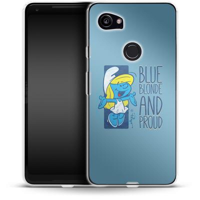 Google Pixel 2 XL Silikon Handyhuelle - Blue, Blond and Proud von The Smurfs