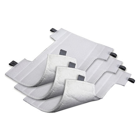 Shark Microfiber Cleaning Pads, 3-Pack XT356, One Size , White