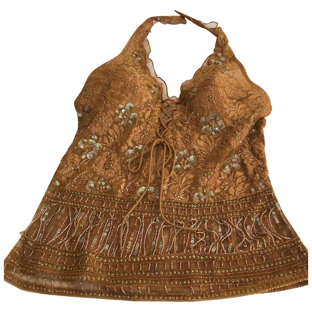 La Perla - Top   pour femme en dentelle - dore