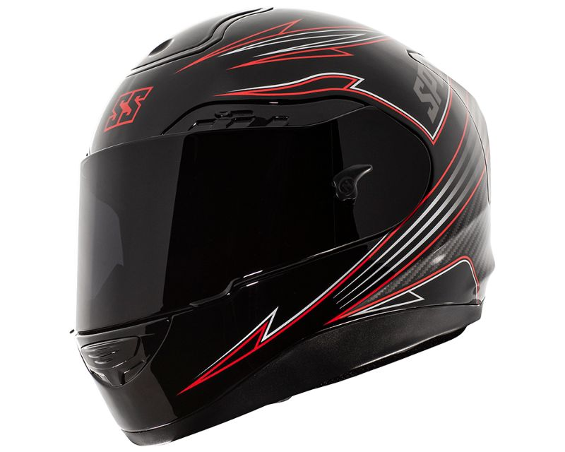 Speed and Strength 884835 SS5100 Revolt Helmet Tri Composit Shell Black Red SM