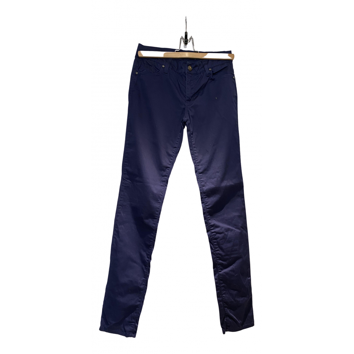 Versace Jeans N Navy Cotton Trousers for Women 8 UK