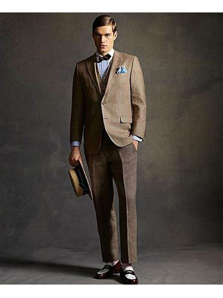 Mens Great Gatsby Men's Clothing Costumes Suits Style For Men Brown