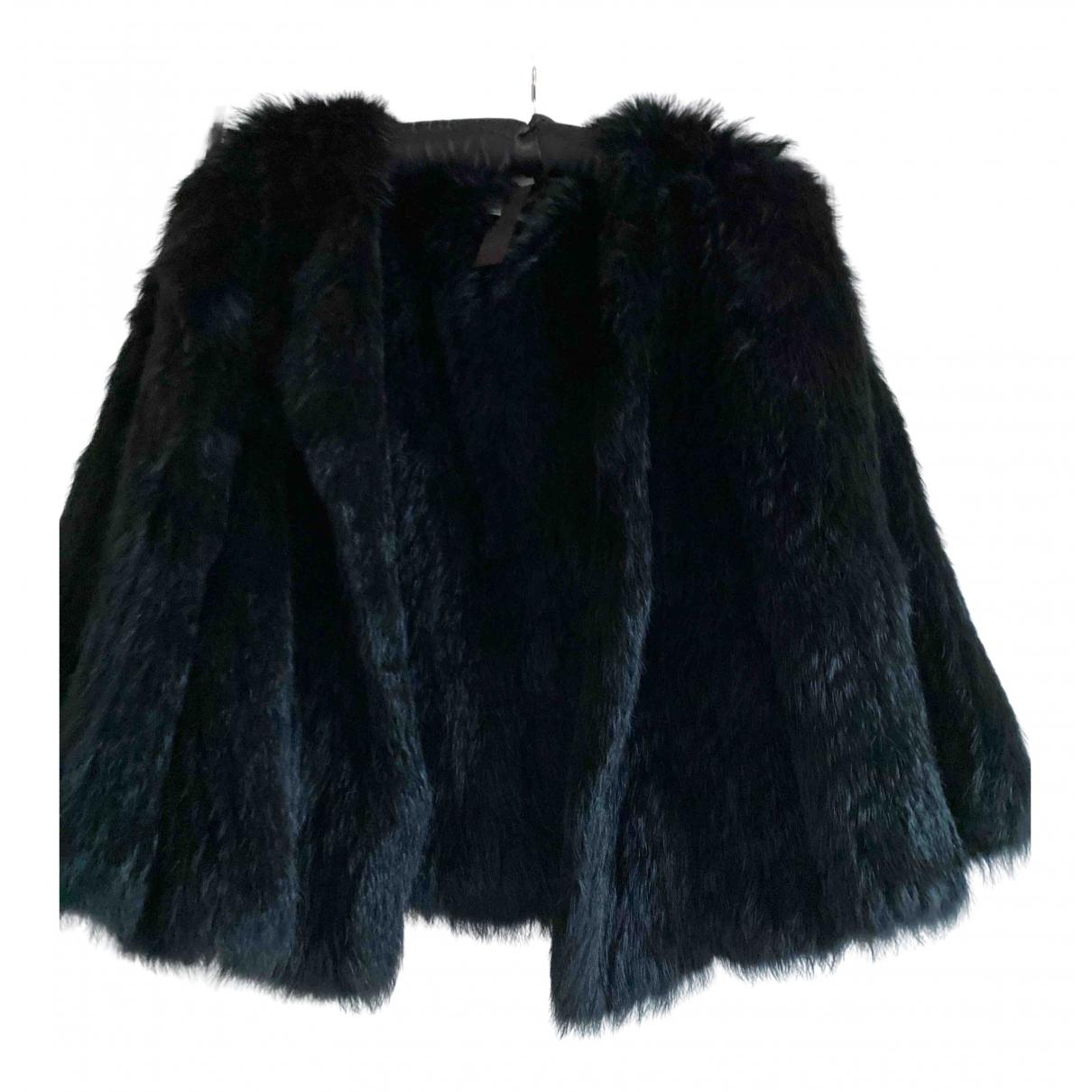 Yves Salomon - Manteau   pour femme en lapin - noir