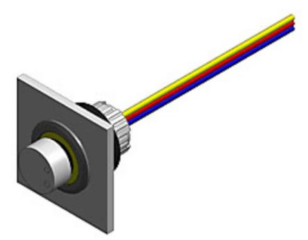 EAO 1 Gang Rotary Plastic Potentiometer with an 16 mm Dia. Shaft, 1W Power Rating, Linear
