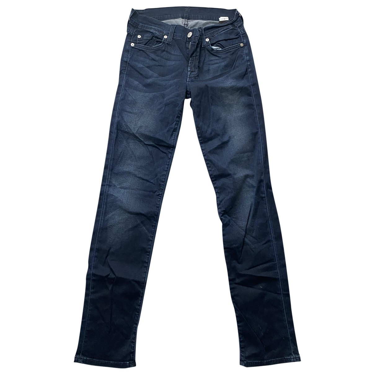 7 For All Mankind \N Navy Cotton Jeans for Women 29 US