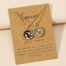 2 piezas collar colgante con diseño de constelacion
