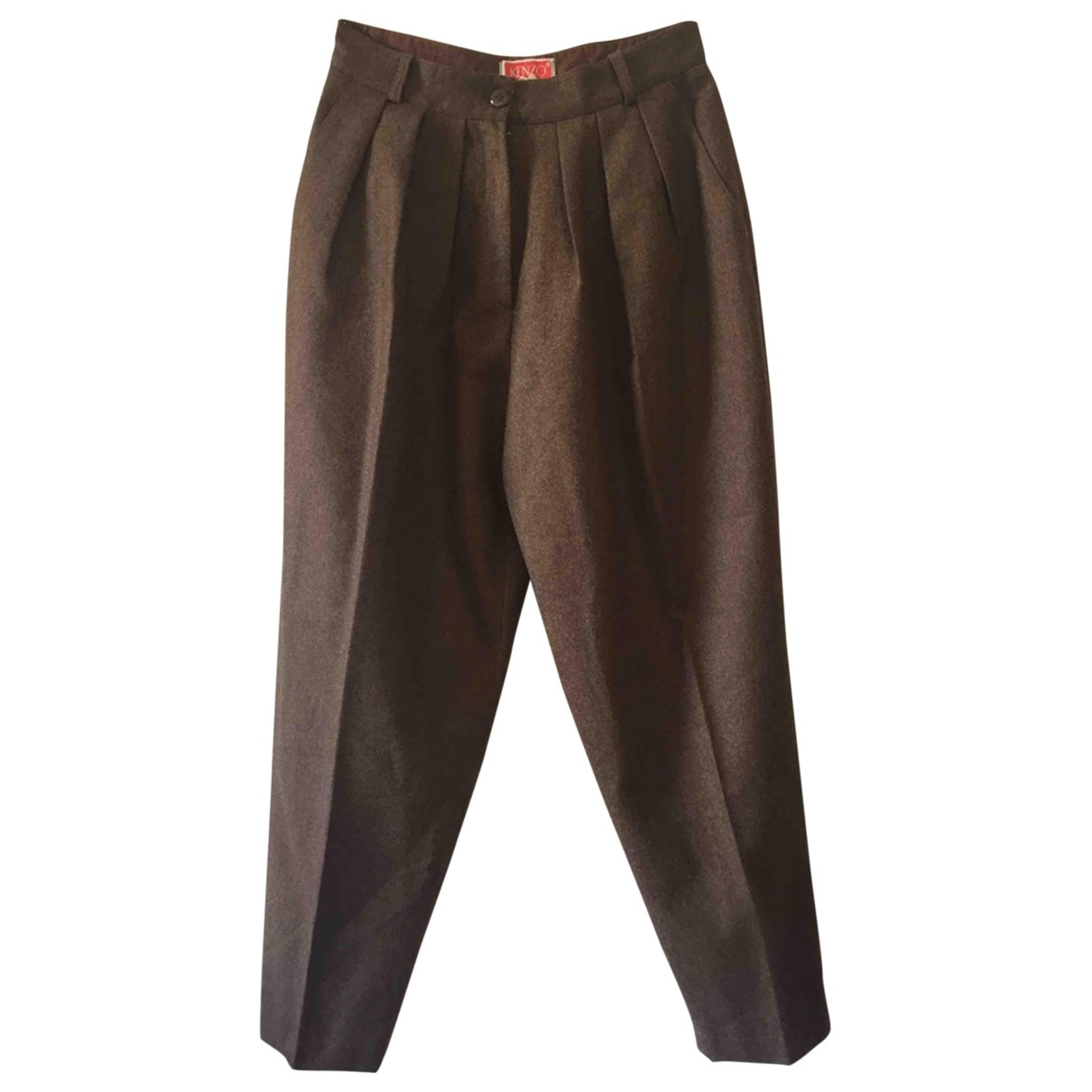 Kenzo \N Brown Cotton Trousers for Women 40 FR