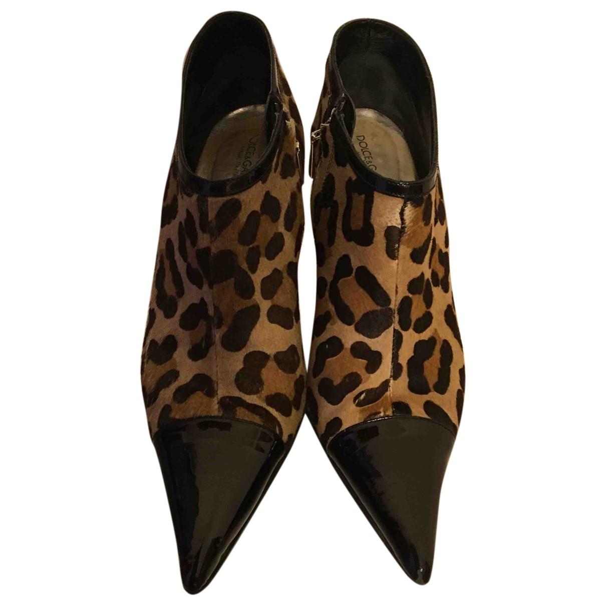 Dolce & Gabbana - Escarpins   pour femme en fourrure