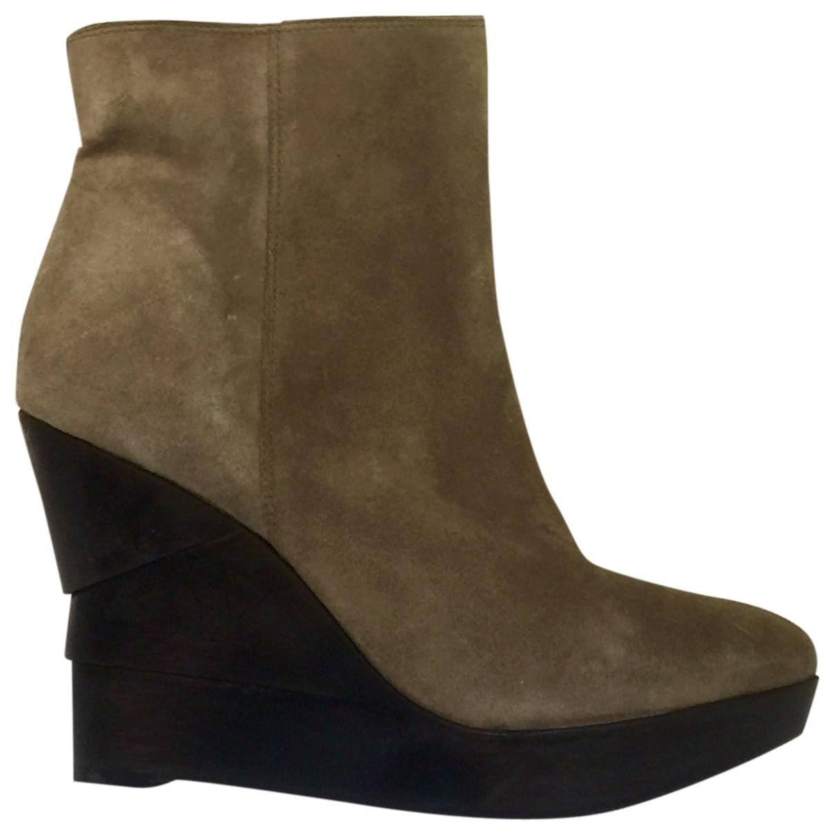 Diane Von Furstenberg \N Suede Ankle boots for Women 9 US