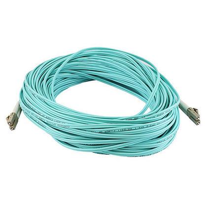 Câble fibre optique 10Gb, OM3 LC/LC, multi mode, duplex (type 50/125) - aqua - Monoprice® - 30m