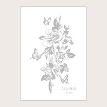 1sheet Flower Pattern Tattoo Sticker