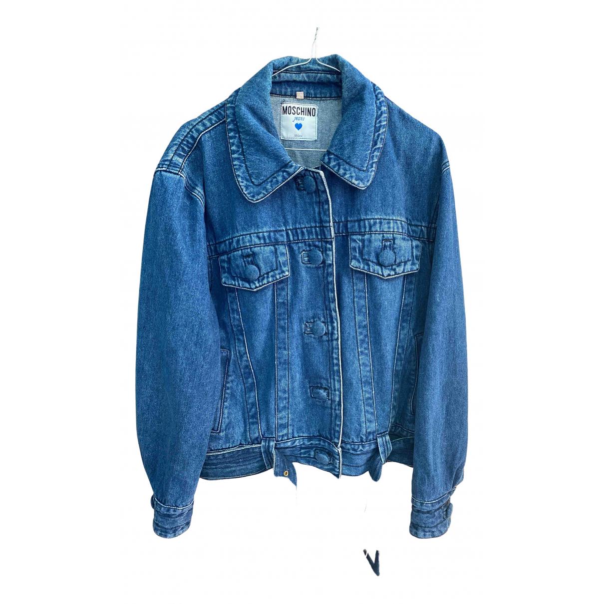 Moschino N Blue Denim - Jeans jacket for Women 42 IT