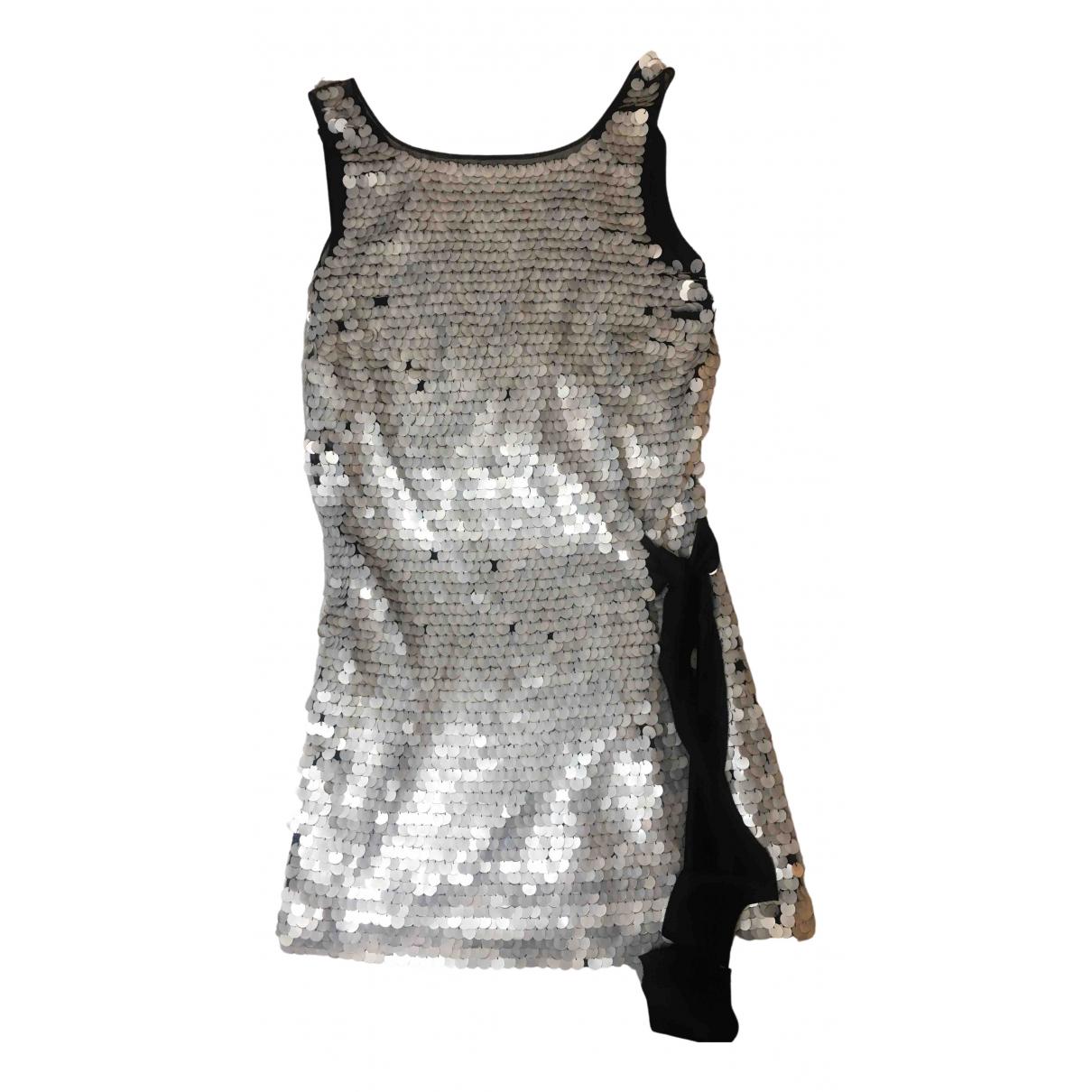 Alberta Ferretti N White Glitter dress for Women 38 IT