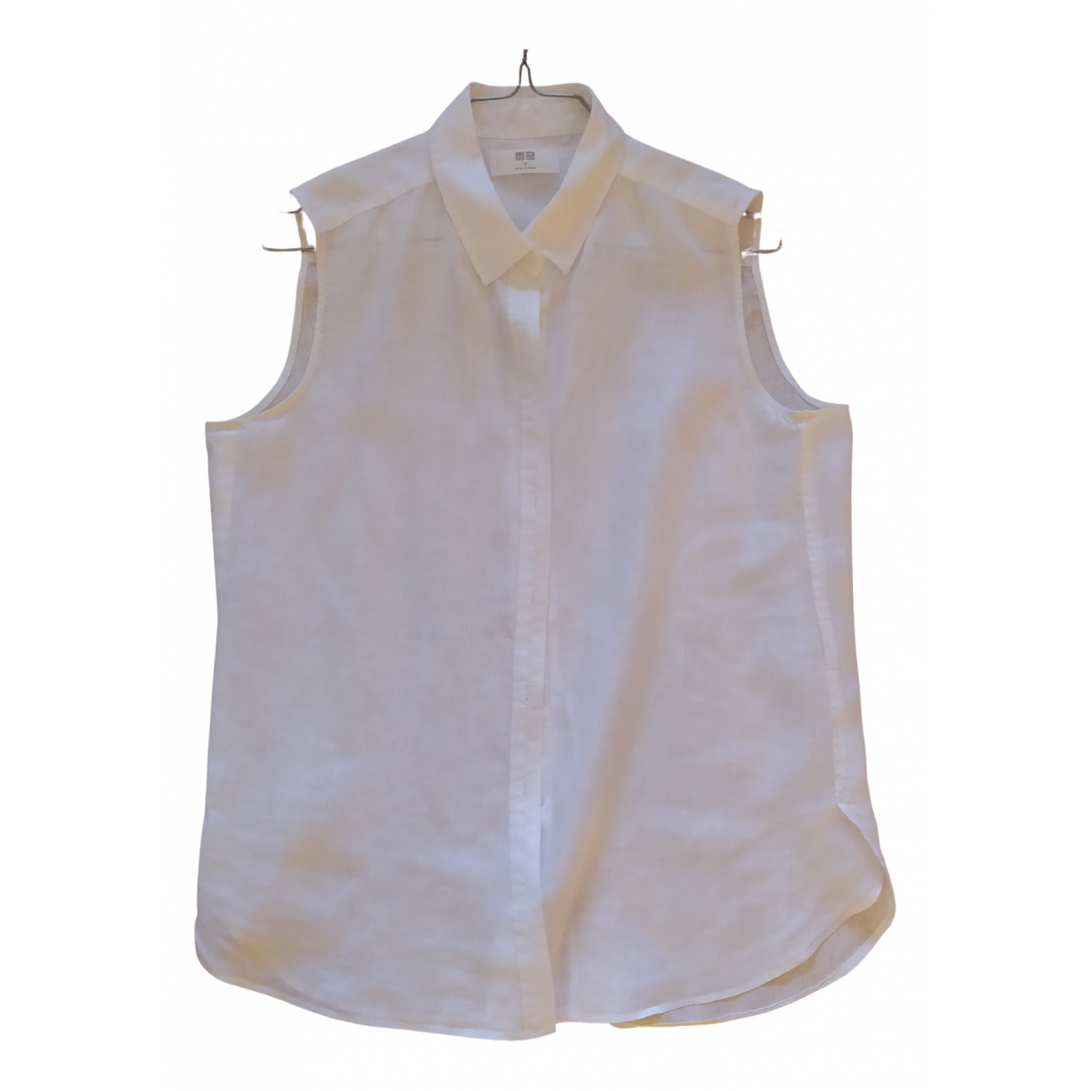 Uniqlo - Top   pour femme en lin - blanc