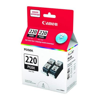 Canon PGI-220BK 2945B017 cartouche d'encre originale pgiment noire double pack