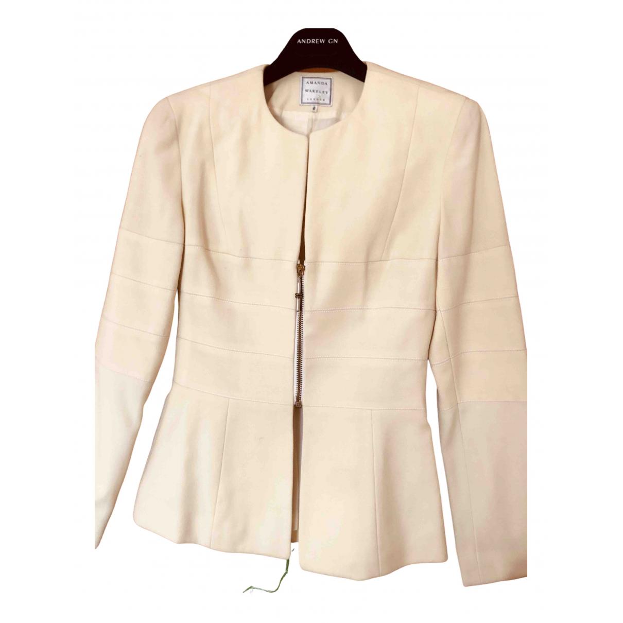 Amanda Wakeley - Veste   pour femme en laine - jaune
