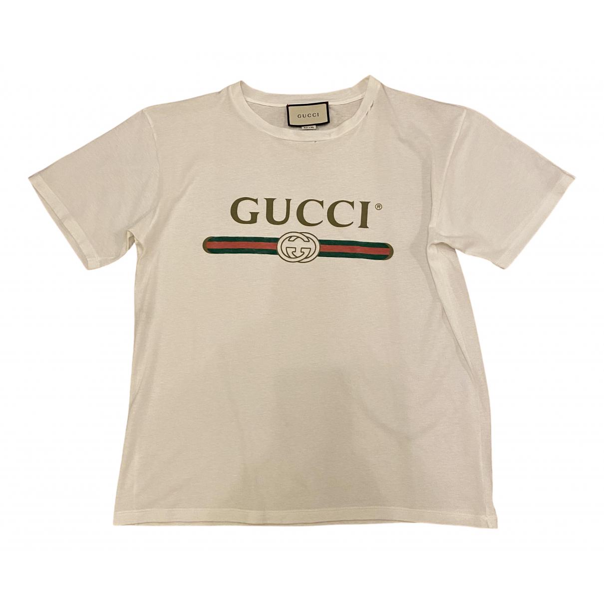 Gucci - Top   pour femme en coton - blanc