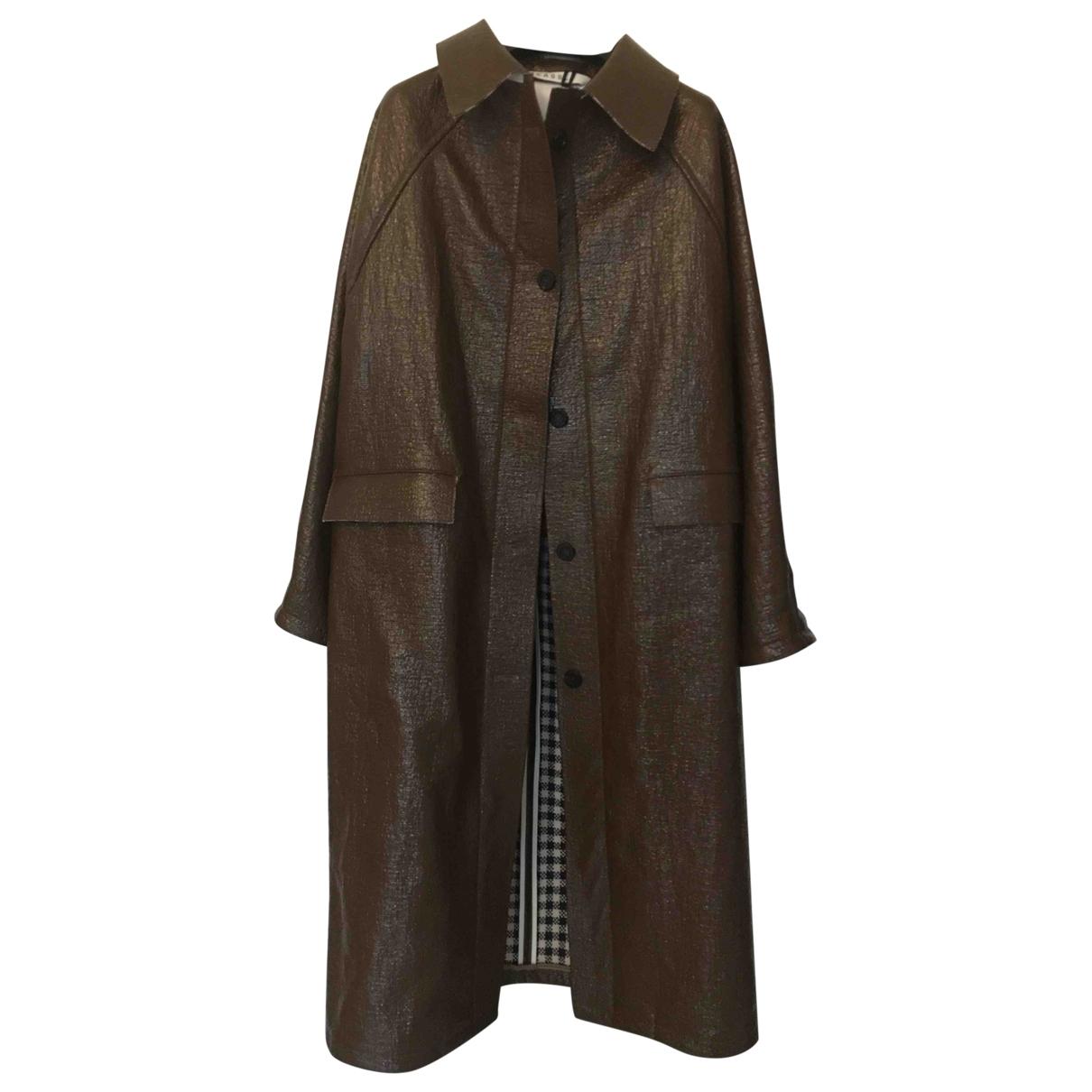 Kassl Editions - Manteau   pour femme en lin - marron