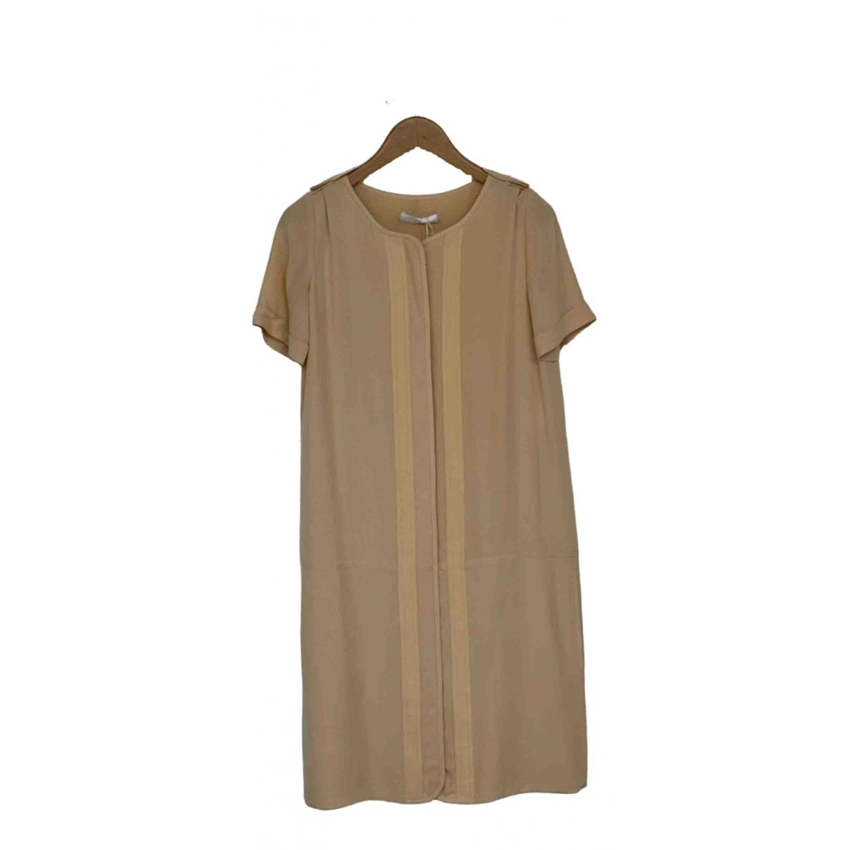 Chloé \N Beige Silk dress for Women 36 FR