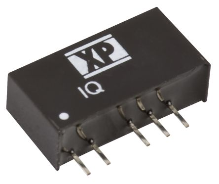 XP Power IQ 1W Isolated DC-DC Converter Through Hole, Voltage in 4.5 → 5.5 V dc, Voltage out ±5V dc