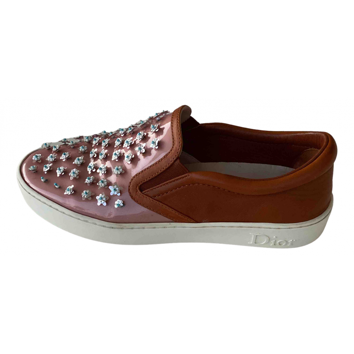 Dior \N Camel Leather Trainers for Women 36.5 EU