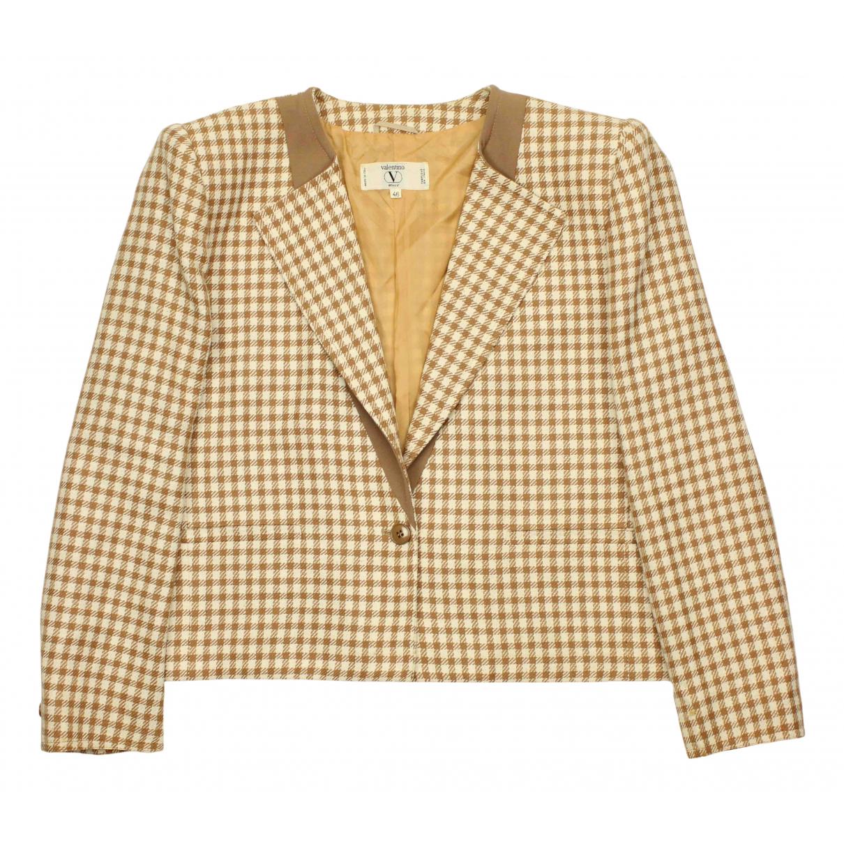 Valentino Garavani - Veste   pour femme en laine - beige