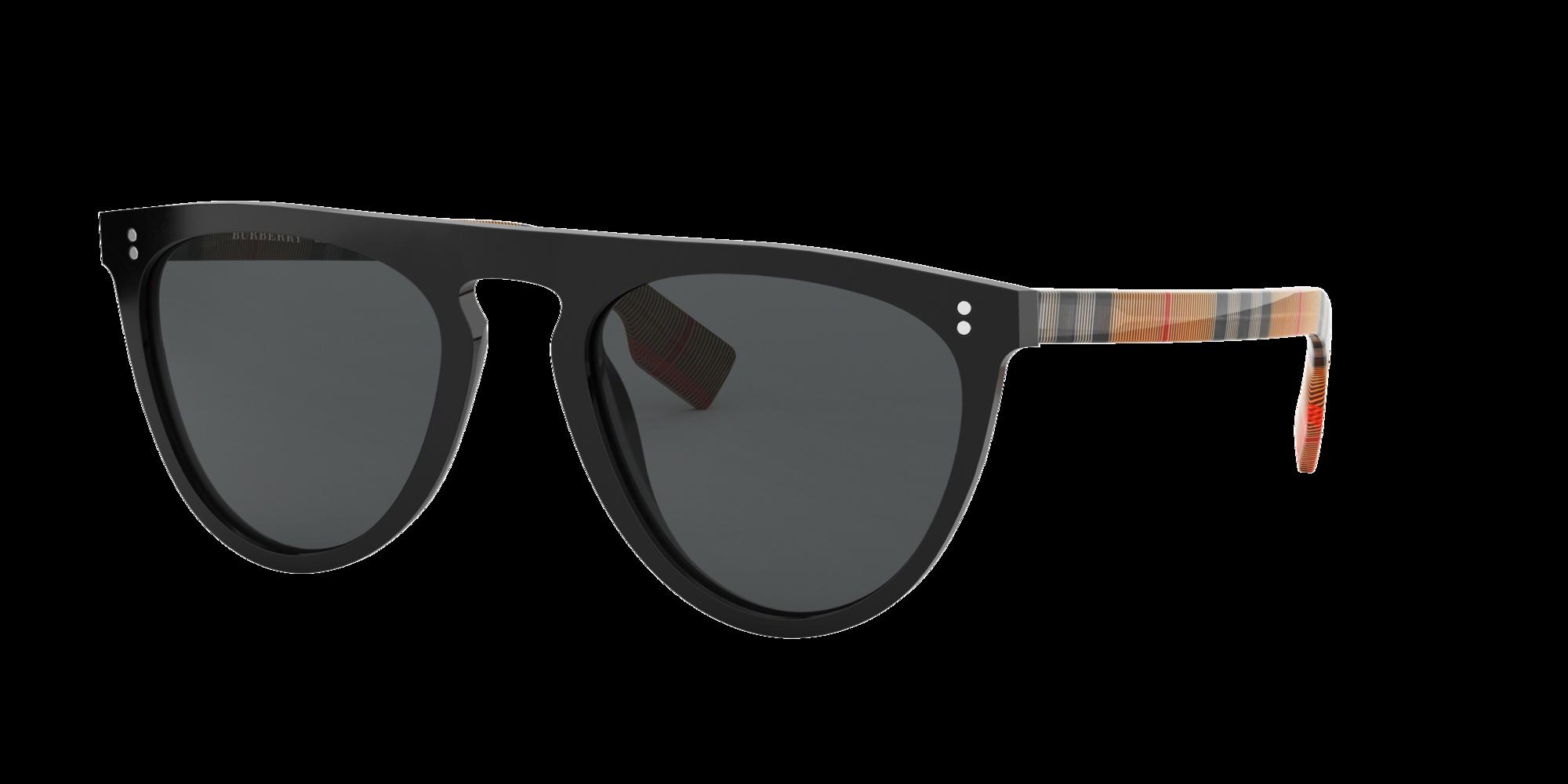 Burberry Unisex  BE4281 -  Frame color: Noir, Lens color: Gris-Noir, Size 54-21/145