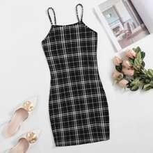 Bodycon Tartan Dress