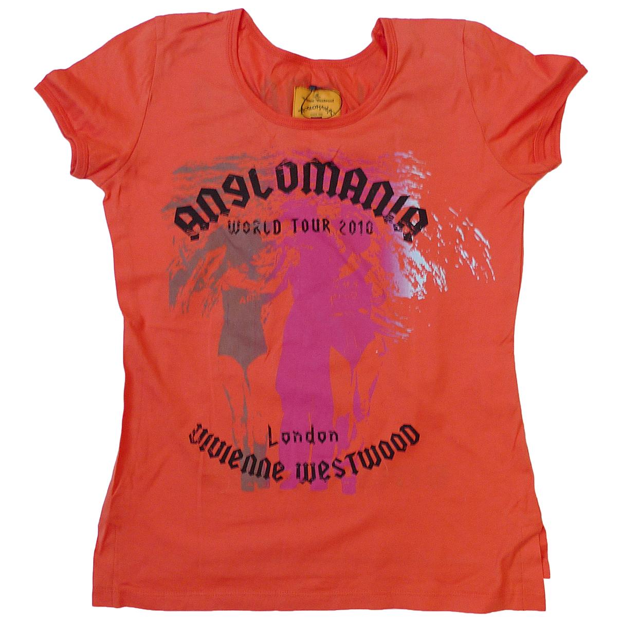 Vivienne Westwood Anglomania - Top   pour femme en coton - rouge