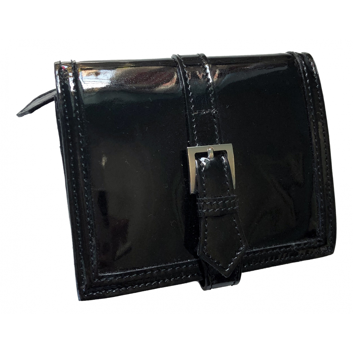 Burberry \N Portemonnaie in  Schwarz Lackleder