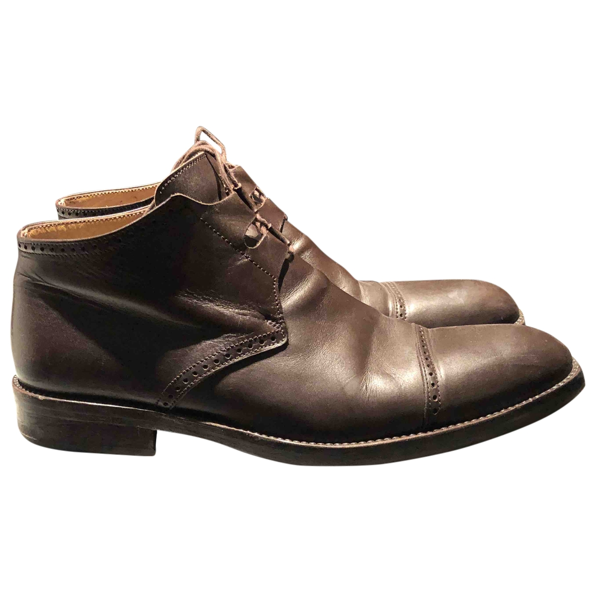 Georges Rech \N Brown Leather Boots for Men 43 EU