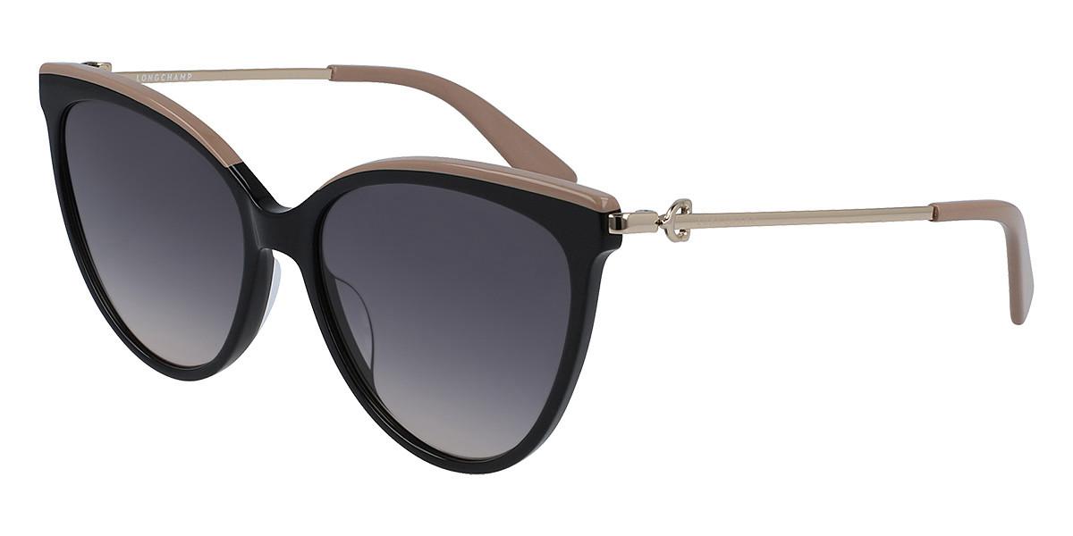 Longchamp LO675S 001 Women's Sunglasses Black Size 55