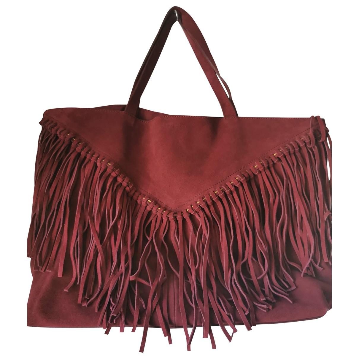 Berenice \N Handtasche in Veloursleder
