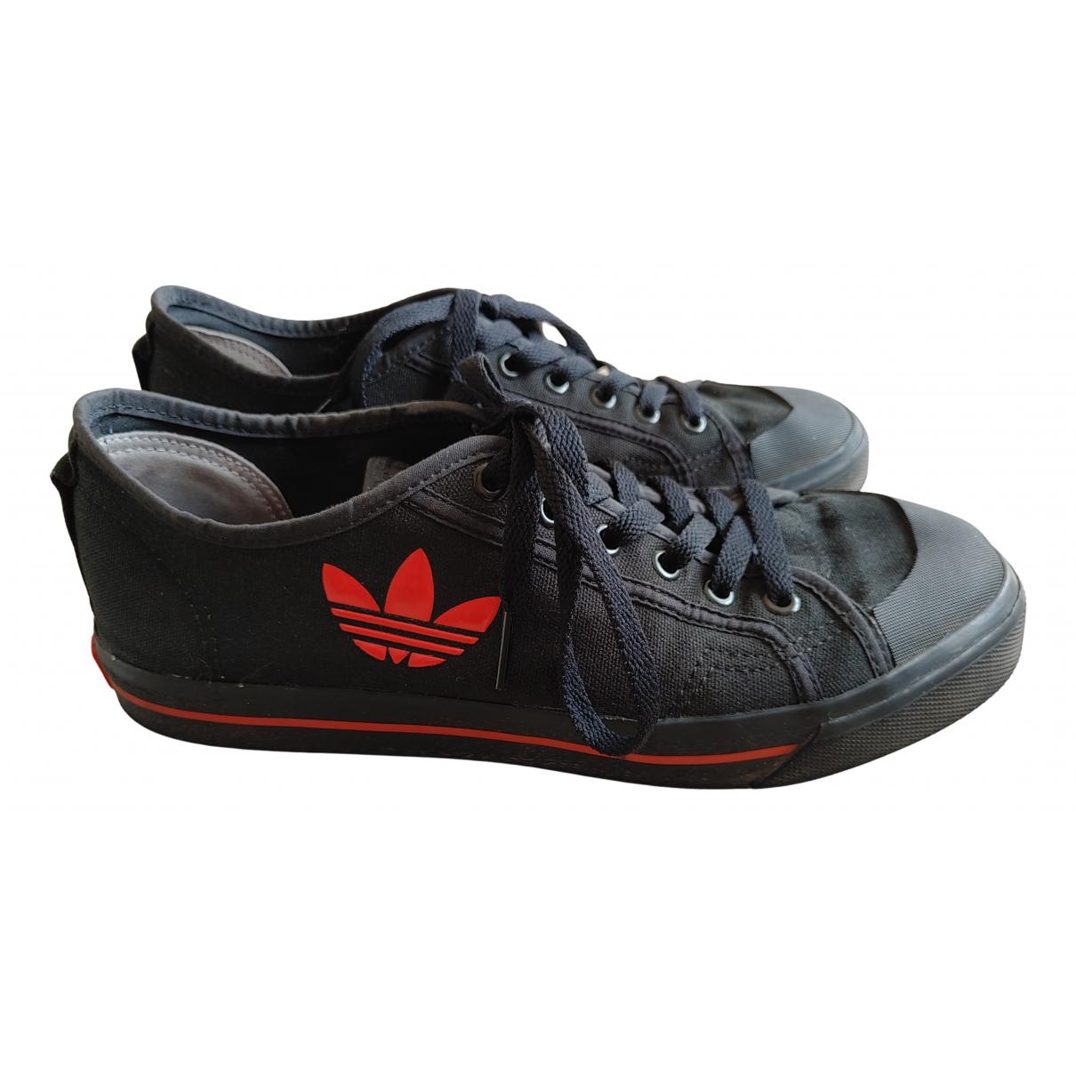 Adidas X Raf Simons Spirit Sneakers in  Schwarz Leinen