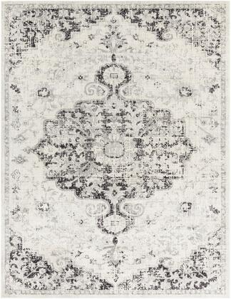 Harput HAP-1061 710 x 103 Rectangle Traditional Rug in Beige  Light Gray  Charcoal