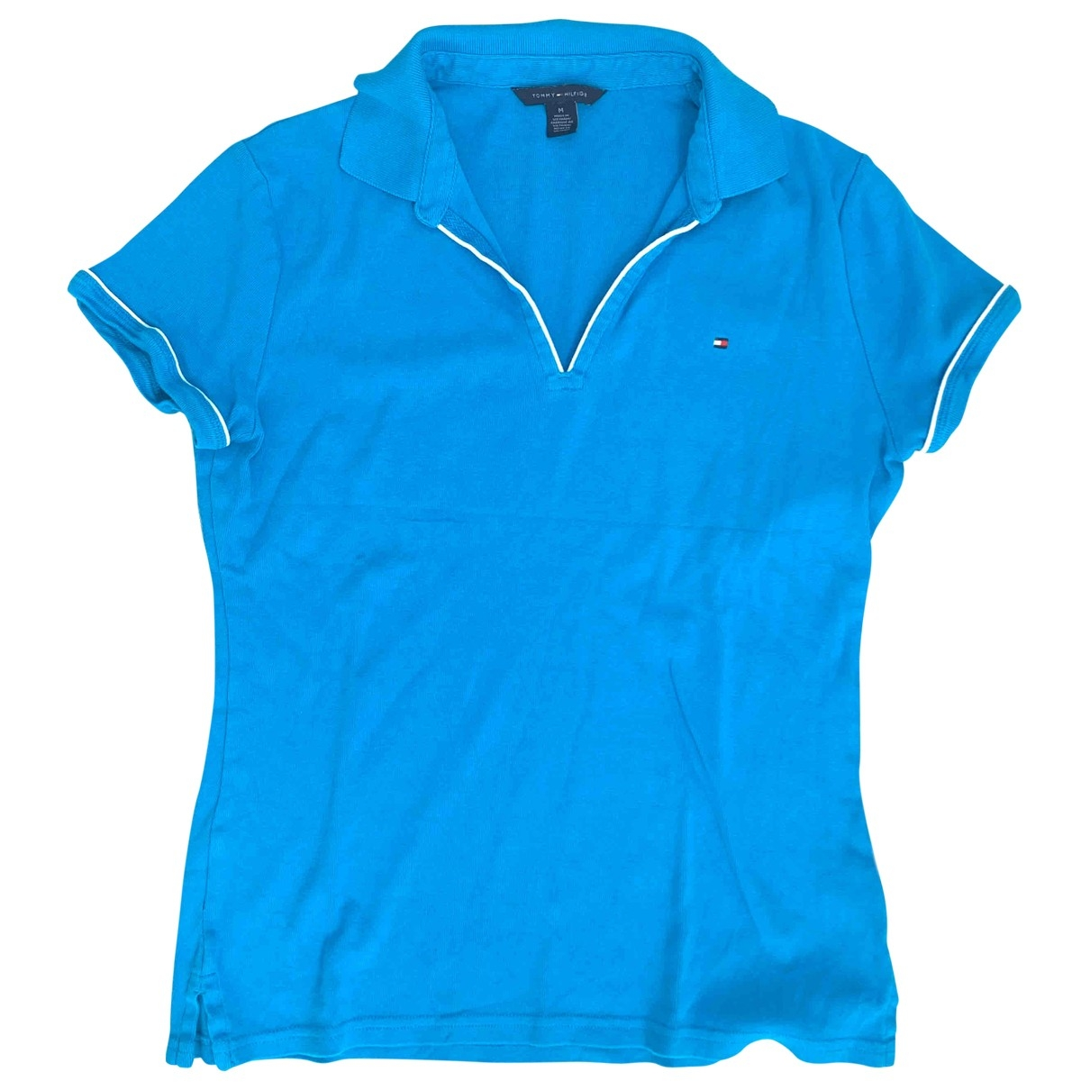 Tommy Hilfiger \N Blue Cotton  top for Women M International