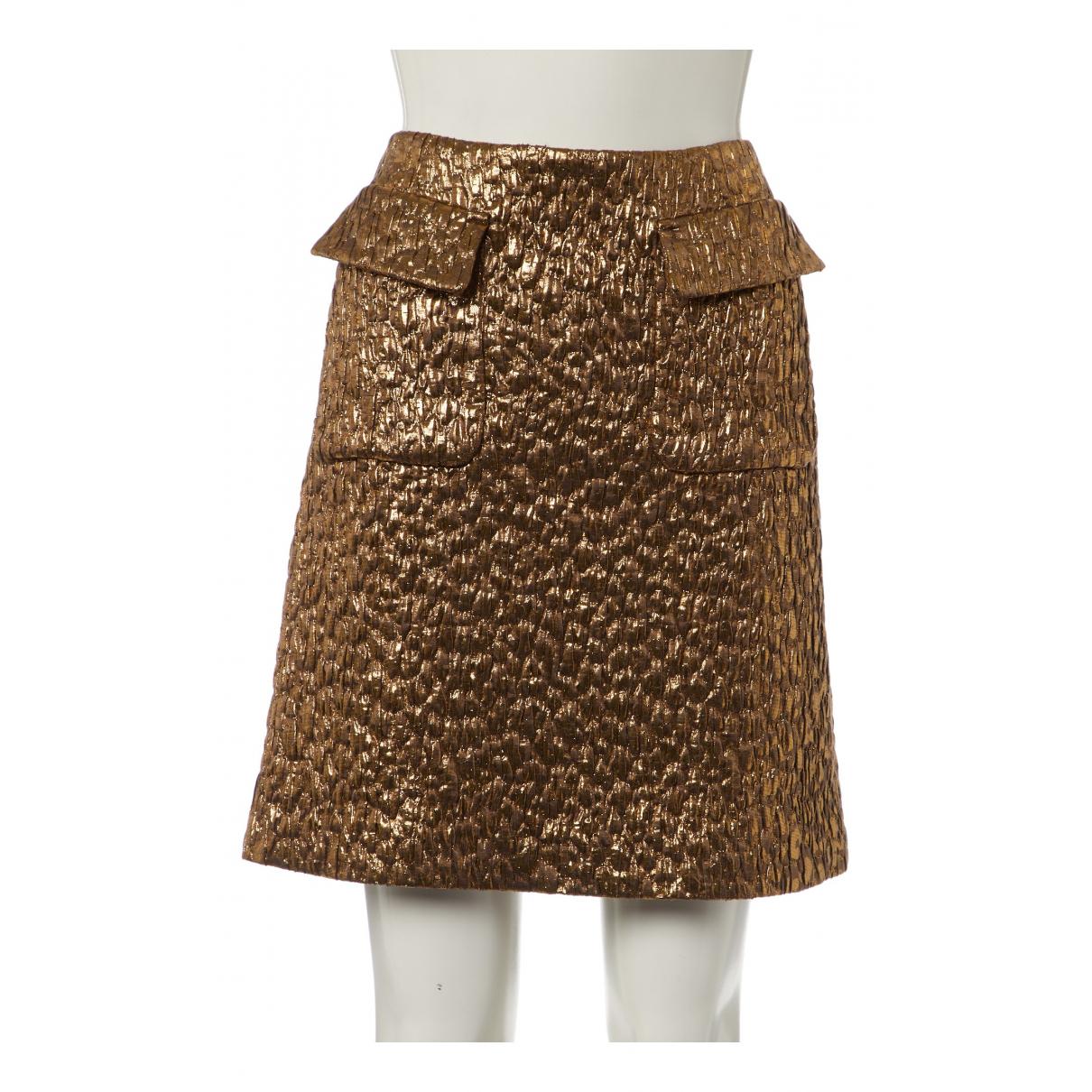 Rochas N Gold Wool skirt for Women 38 FR