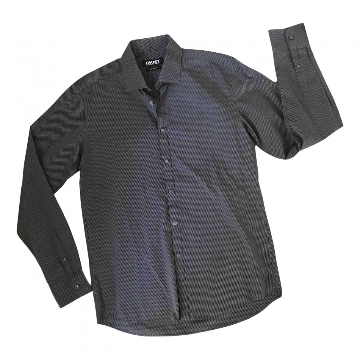 Dkny - Chemises   pour homme en coton - noir