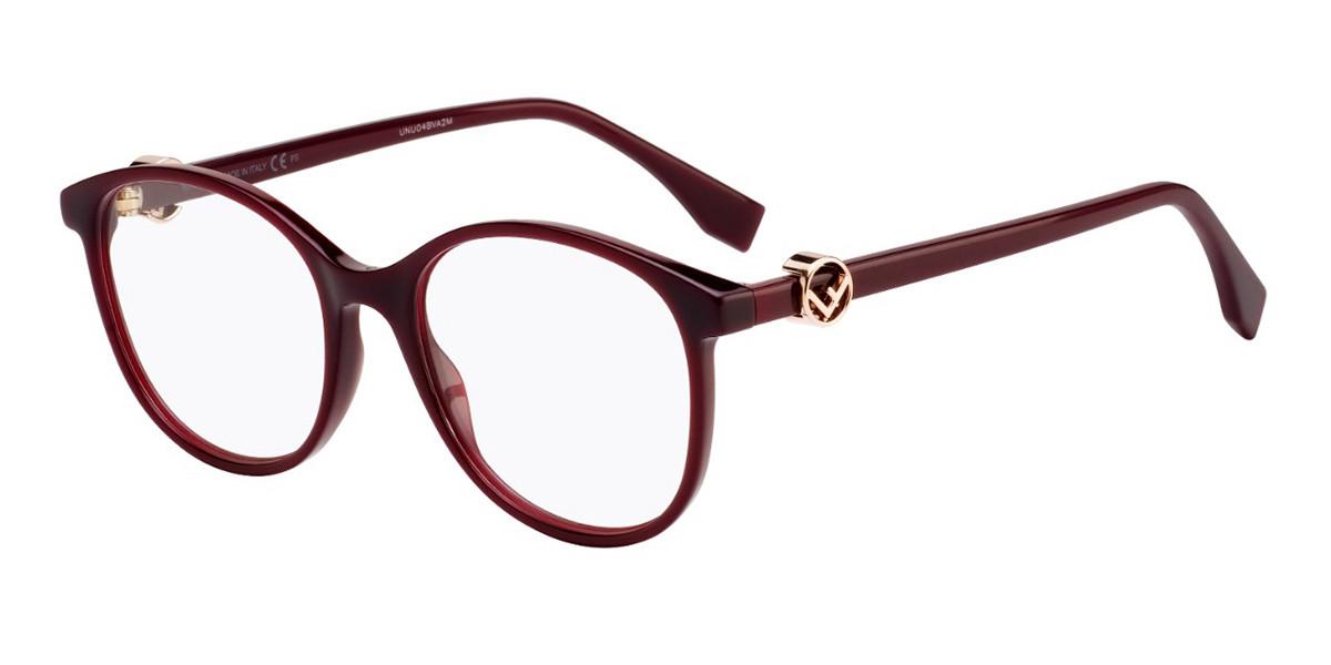 Fendi FF 0299 LHF Women's Glasses Red Size 51 - Free Lenses - HSA/FSA Insurance - Blue Light Block Available