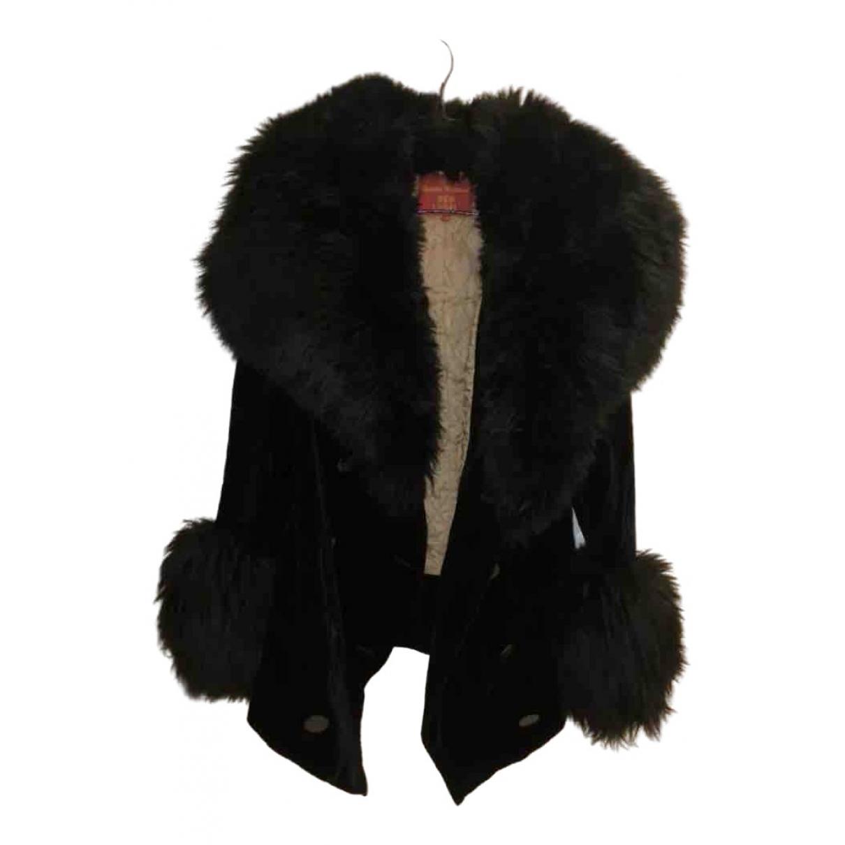 Vivienne Westwood Red Label - Manteau   pour femme en coton - noir