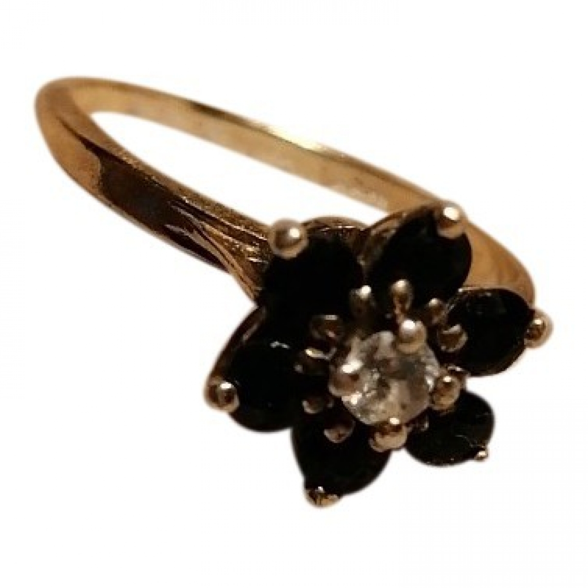 Non Signe / Unsigned Motifs Floraux Ring in  Silber Stahl